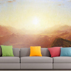 Roshni Arts - Curated Art Wall Mural - The Andes of Ecuador by Frederick Edwin Church | Self-Adhesive Vinyl Furnishings Decor Wall Art