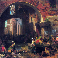 The Museum Outlet - The Arc of Octavius, Roman Fish market by Bierstadt