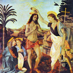The Museum Outlet - The Baptism of Christ by Da Vinci
