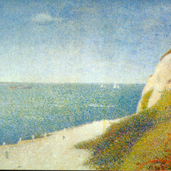 100% Hand Painted Oil on Canvas - The Beach by Seurat