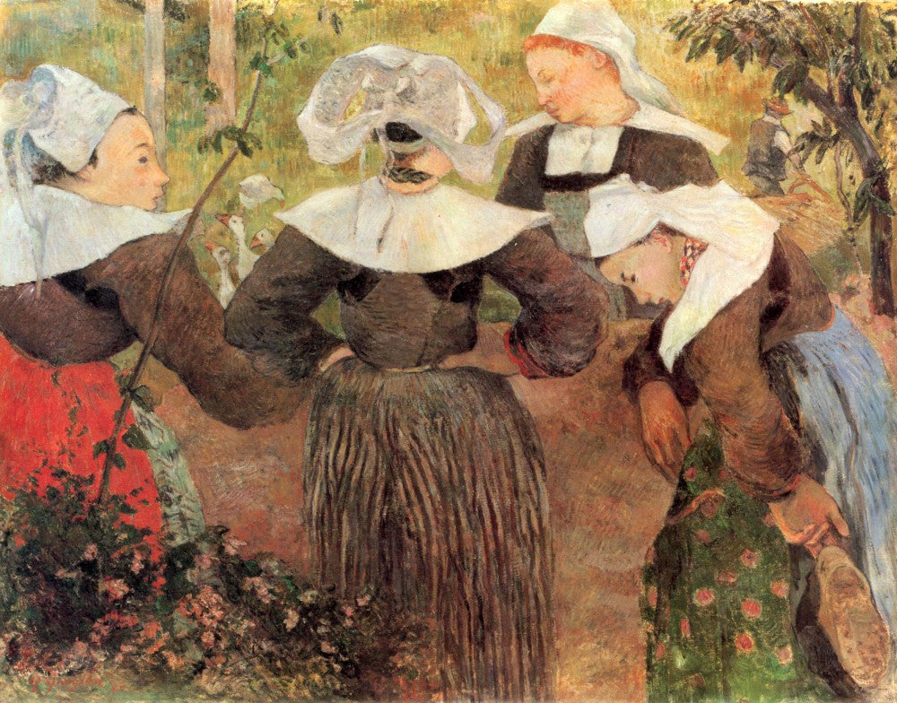The Museum Outlet - The Dance of 4 Women of Breton by Gauguin