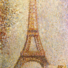 100% Hand Painted Oil on Canvas - The Eiffel Tower by Seurat