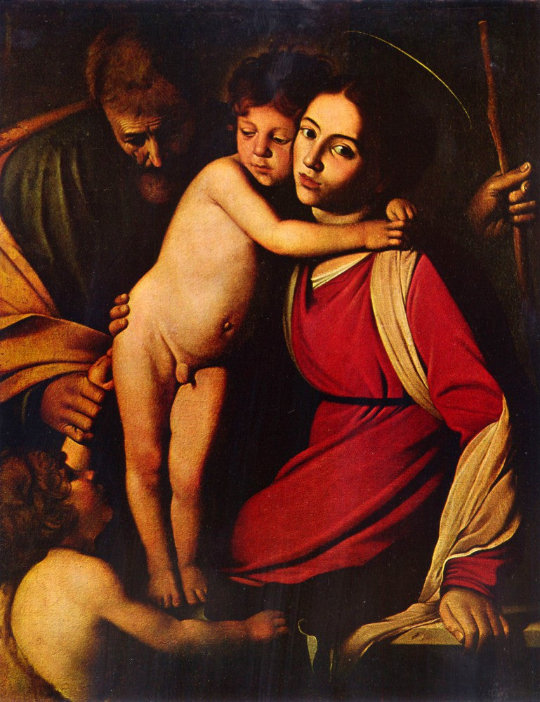 The Museum Outlet - The Holy Family with John the Baptist by Caravaggio
