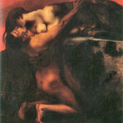 100% Hand Painted Oil on Canvas - The Kiss of the Sphinx by Franz von Stuck