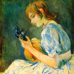 100% Hand Painted Oil on Canvas - The Mandolin by Morisot
