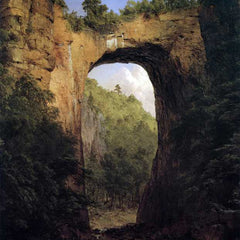 The Museum Outlet - The Natural Bridge, Virginia by Frederick Edwin Church