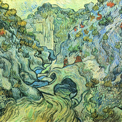 100% Hand Painted Oil on Canvas - The Ravine by Van Gogh