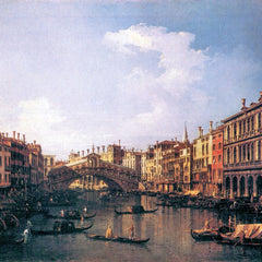 The Museum Outlet - The Rialto Bridge from the south by Canaletto
