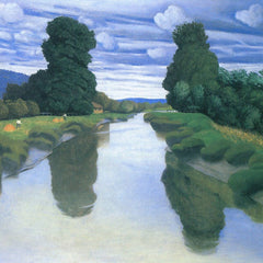100% Hand Painted Oil on Canvas - The River at Berville by Felix Vallotton