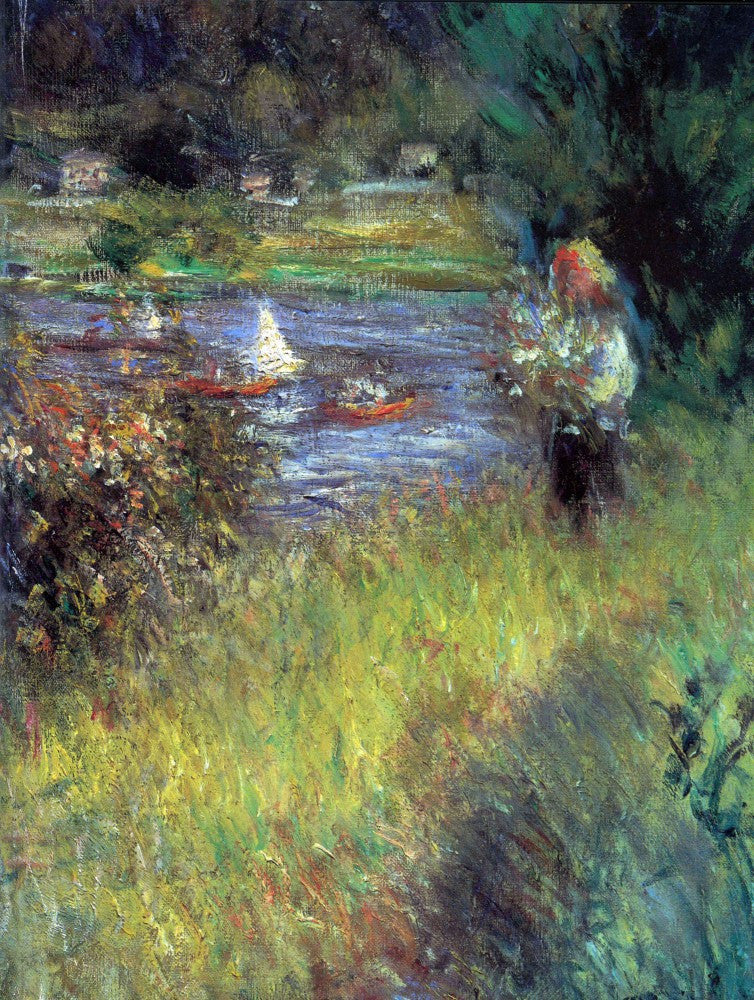 The Museum Outlet - The Seine at Chatou (Detail) by Renoir