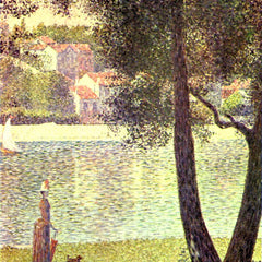 100% Hand Painted Oil on Canvas - The Seine at Courbevoie by Seurat
