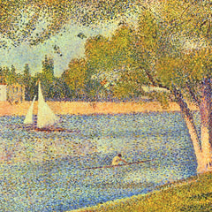 100% Hand Painted Oil on Canvas - The Seine at the Grand Jatte, Spring by Seurat