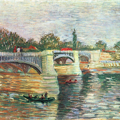 100% Hand Painted Oil on Canvas - The Seine with the Pont de la Grande Jatte by Van Gogh
