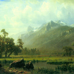 The Museum Outlet - The Sierra near Lake Tahoe, California by Bierstadt
