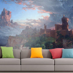 Roshni Arts - Curated Art Wall Mural - The Spirit of War by Jasper Francis Cropsey | Self-Adhesive Vinyl Furnishings Decor Wall Art
