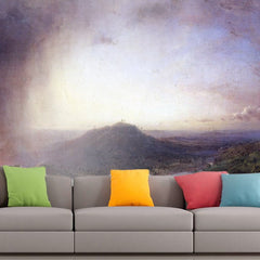 Roshni Arts - Curated Art Wall Mural - The Valley of St. Thomas, Jamaica by Frederick Edwin Church | Self-Adhesive Vinyl Furnishings Decor Wall Art