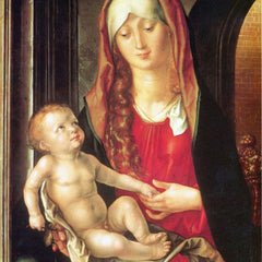 The Museum Outlet - The Virgin and Child before an archway by Durer