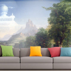 Roshni Arts - Curated Art Wall Mural - The Voyage of Life - Youth by Thomas Cole | Self-Adhesive Vinyl Furnishings Decor Wall Art