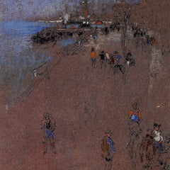 The Museum Outlet - The Zattere, harmony in blue and brown by Whistler