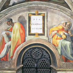 The Museum Outlet - The ancestors of Christ- Asa, Josaphat, Joram by Michelangelo
