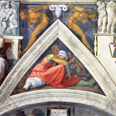 The Museum Outlet - The ancestors of Christ - Asa by Michelangelo