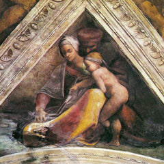 The Museum Outlet - The ancestors of Christ - Family of King Solomon by Michelangelo