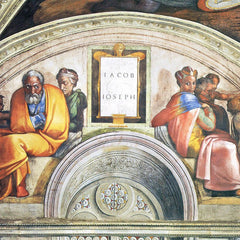 The Museum Outlet - The ancestors of Christ - Jacob and Joseph by Michelangelo