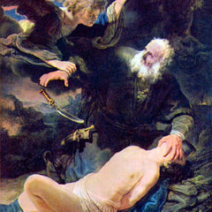 The Museum Outlet - The angel prevents the sacrifice of Isaac by Rembrandt