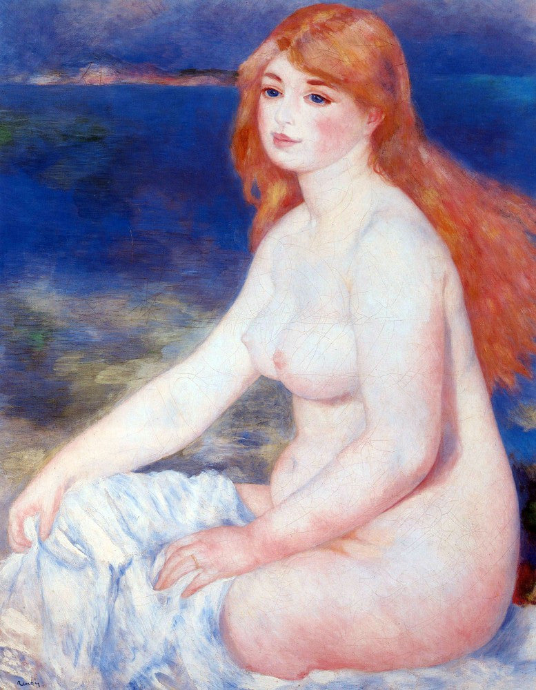 The Museum Outlet - The blond bather #2 by Renoir