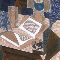 100% Hand Painted Oil on Canvas - The book by Juan Gris