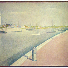 100% Hand Painted Oil on Canvas - The channel of Gravelines, Petit-Fort-Philippe by Seurat