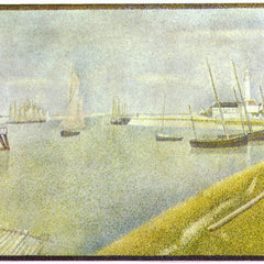 100% Hand Painted Oil on Canvas - The channel of Gravelines by Seurat