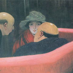 100% Hand Painted Oil on Canvas - The chaste Susanne by Felix Vallotton