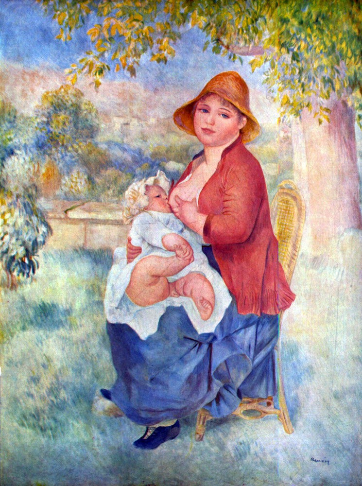 The Museum Outlet - The child at the chest maternity by Renoir