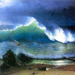 The Museum Outlet - The coast of the Turquoise sea by Bierstadt