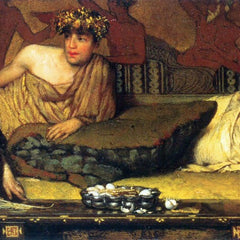 The Museum Outlet - The dinner (Greek), detail by Alma-Tadema