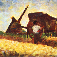 100% Hand Painted Oil on Canvas - The field worker by Seurat