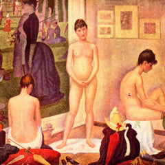 100% Hand Painted Oil on Canvas - The models by Seurat