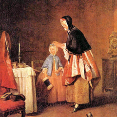 The Museum Outlet - The morning toilet by Jean Chardin