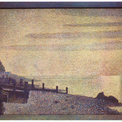 100% Hand Painted Oil on Canvas - The mouth of the Seine at Honfleur, evening by Seurat