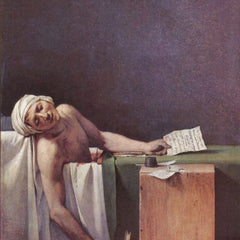 100% Hand Painted Oil on Canvas - The murdered Marat by Jacques Louis David
