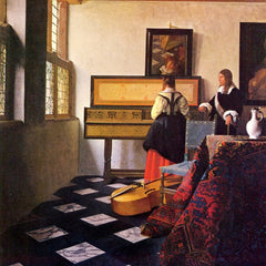 The Museum Outlet - The music lesson by Vermeer