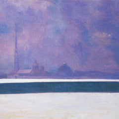 100% Hand Painted Oil on Canvas - The night in light fog by Felix Vallotton