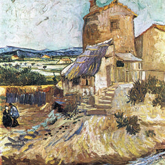 100% Hand Painted Oil on Canvas - The old mill by Van Gogh