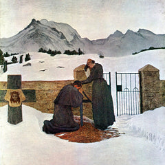 100% Hand Painted Oil on Canvas - The pain of mourning by Giovanni Segantini