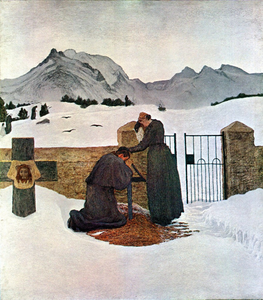 The Museum Outlet - The pain of mourning by Giovanni Segantini