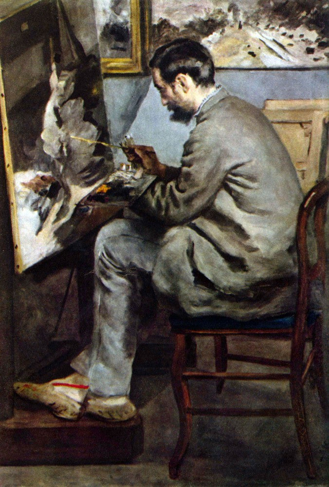 The Museum Outlet - The painter in the studio of Bazille by Renoir