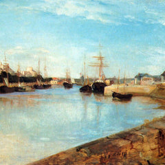 100% Hand Painted Oil on Canvas - The port of Lorient by Morisot