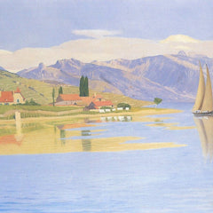 100% Hand Painted Oil on Canvas - The port of Pully by Felix Vallotton