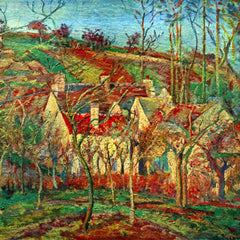 100% Hand Painted Oil on Canvas - The red roofs by Pissarro